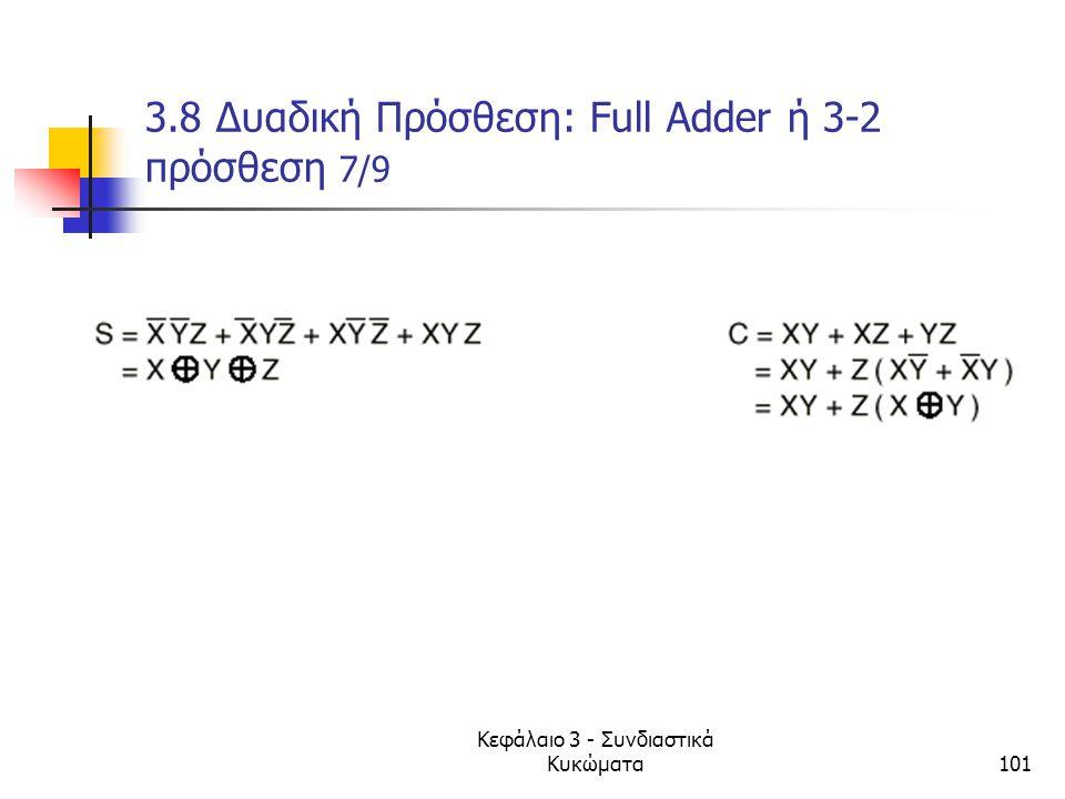3.8 Δυαδική Πρόσθεση: Full Adder ή 3-2 πρόσθεση 7/9