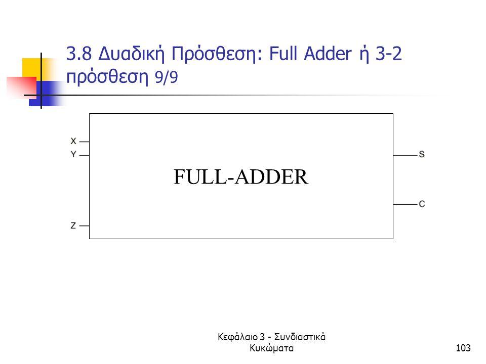 3.8 Δυαδική Πρόσθεση: Full Adder ή 3-2 πρόσθεση 9/9