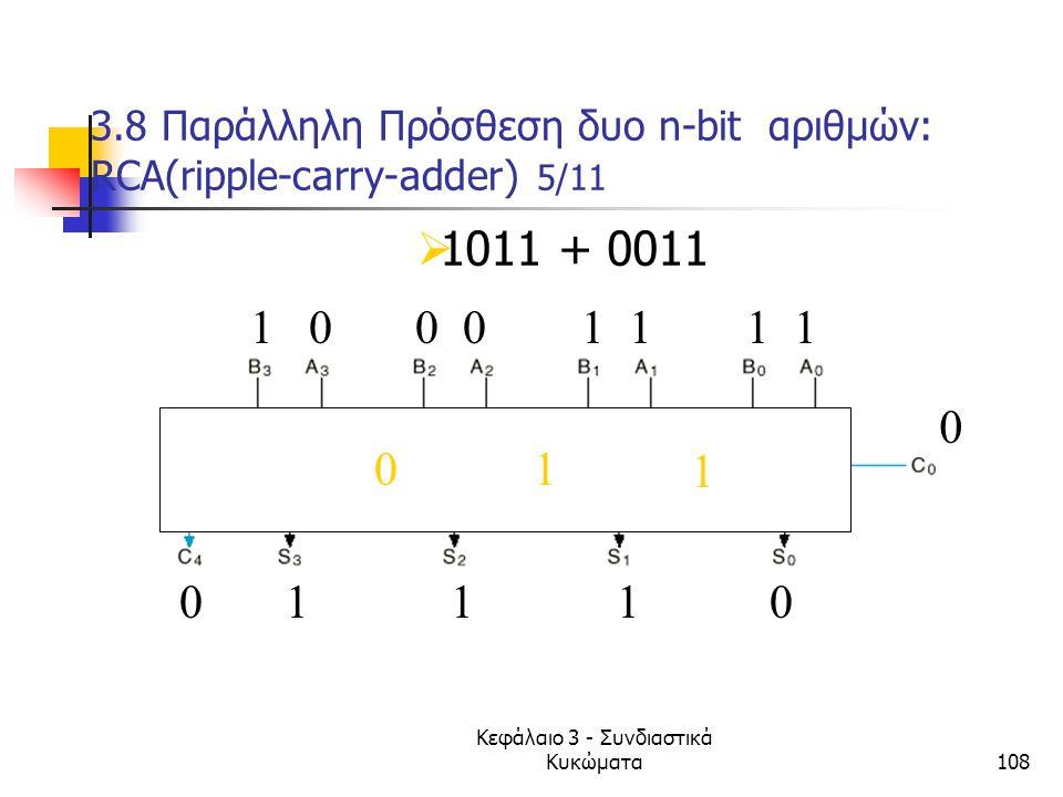 3.8 Παράλληλη Πρόσθεση δυο n-bit αριθμών: RCA(ripple-carry-adder) 5/11