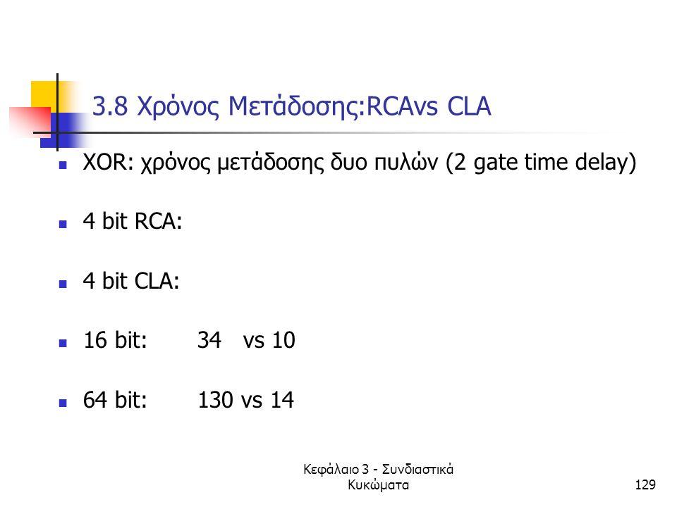 3.8 Xρόνος Μετάδοσης:RCAvs CLA
