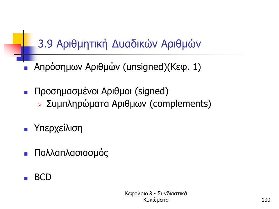 3.9 Αριθμητική Δυαδικών Αριθμών