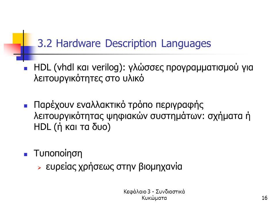3.2 Hardware Description Languages