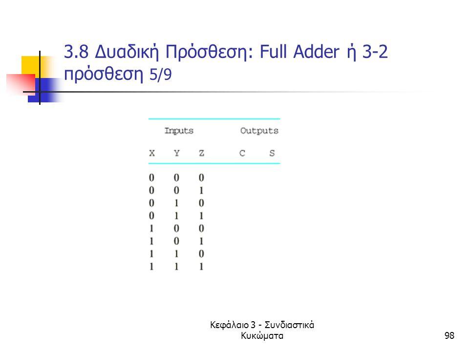3.8 Δυαδική Πρόσθεση: Full Adder ή 3-2 πρόσθεση 5/9