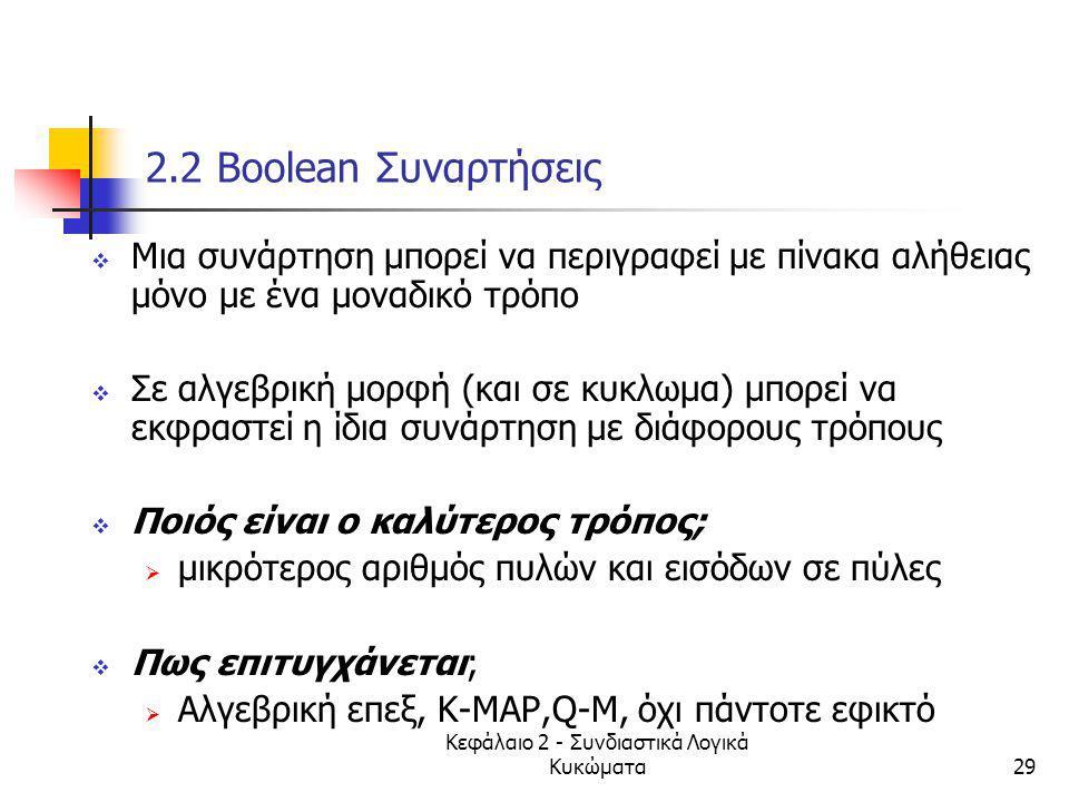 Κεφάλαιο 2 - Συνδιαστικά Λογικά Κυκώματα