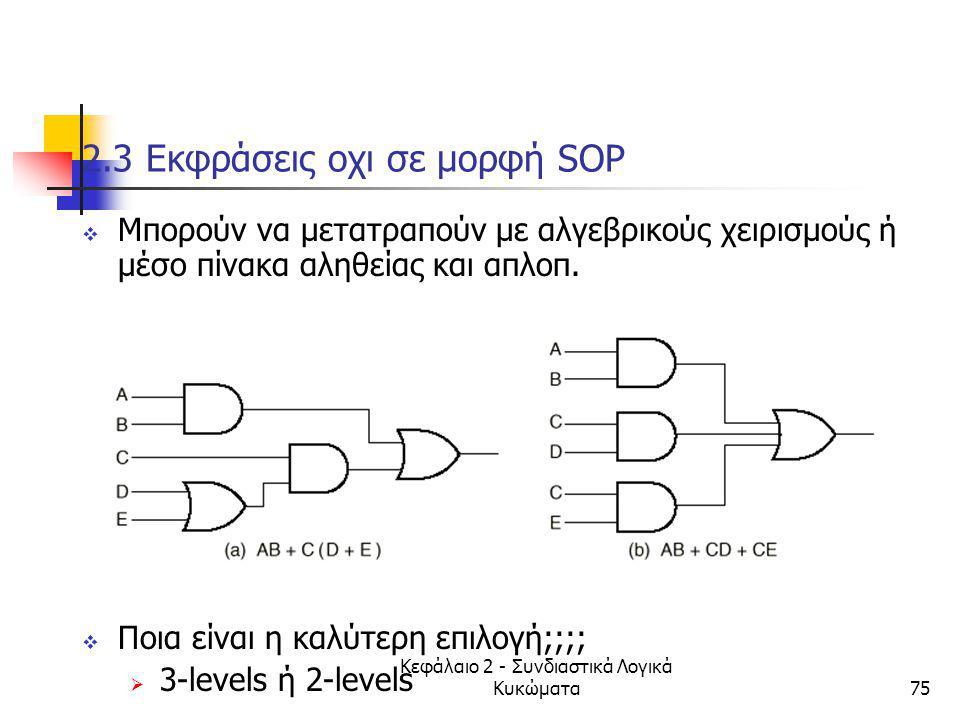 2.3 Εκφράσεις οχι σε μορφή SOP