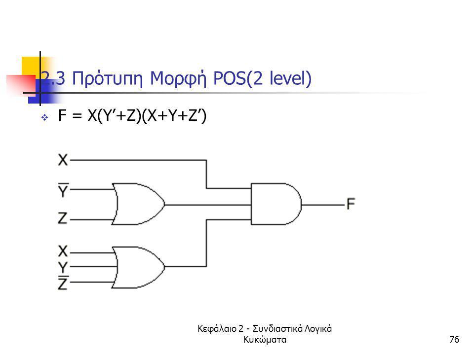 2.3 Πρότυπη Μορφή POS(2 level)
