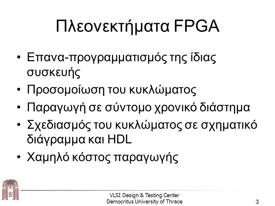 Πλεονεκτήματα FPGA Επανα-προγραμματισμός της ίδιας συσκευής