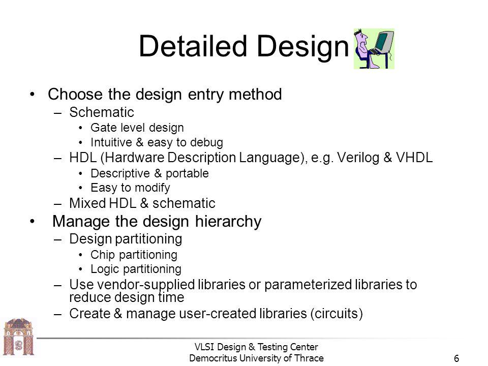 Detailed Design Choose the design entry method