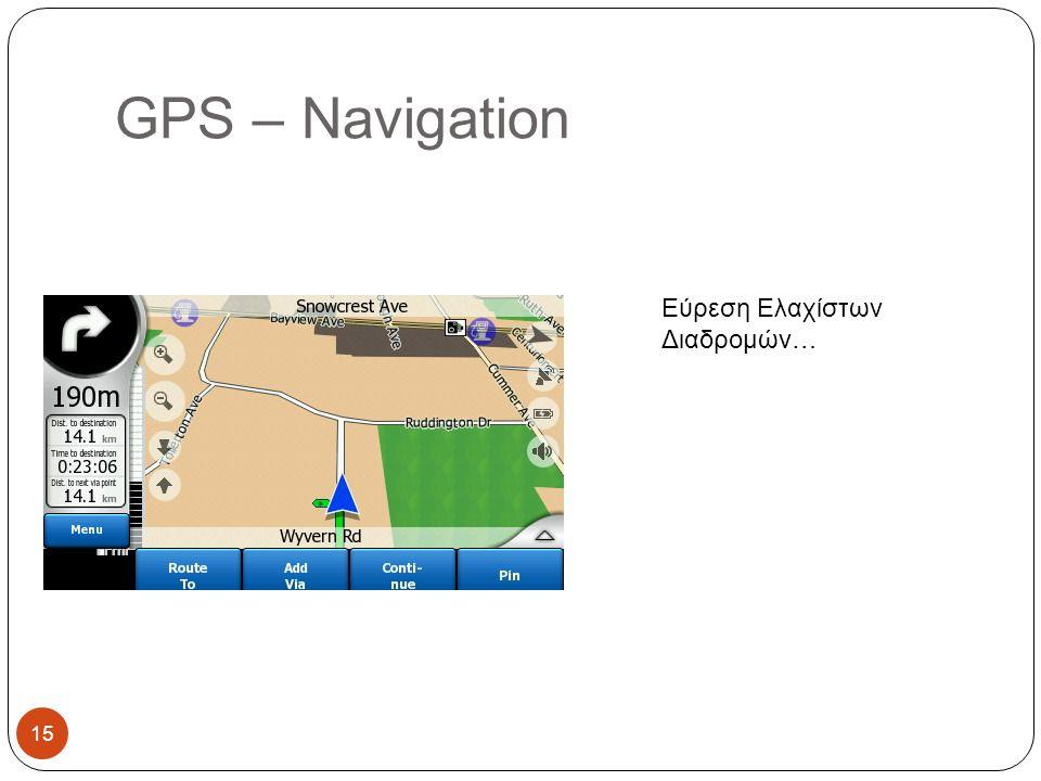 GPS – Navigation Εύρεση Ελαχίστων Διαδρομών…