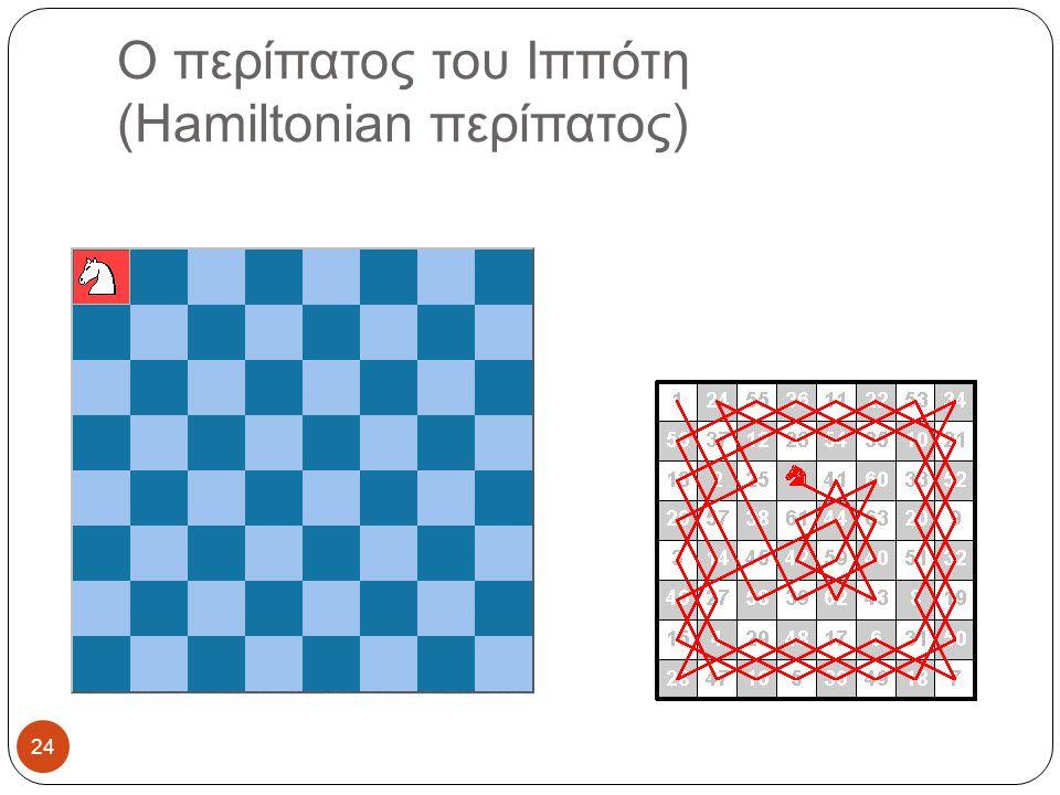 Ο περίπατος του Ιππότη (Hamiltonian περίπατος)