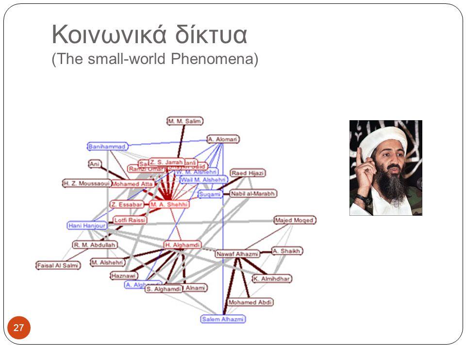 Κοινωνικά δίκτυα (The small-world Phenomena)