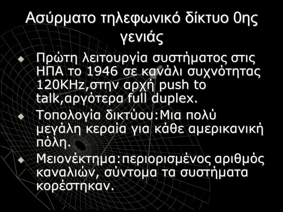 Ασύρματο τηλεφωνικό δίκτυο 0ης γενιάς