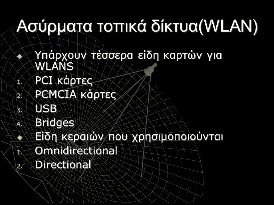 Ασύρματα τοπικά δίκτυα(WLAN)