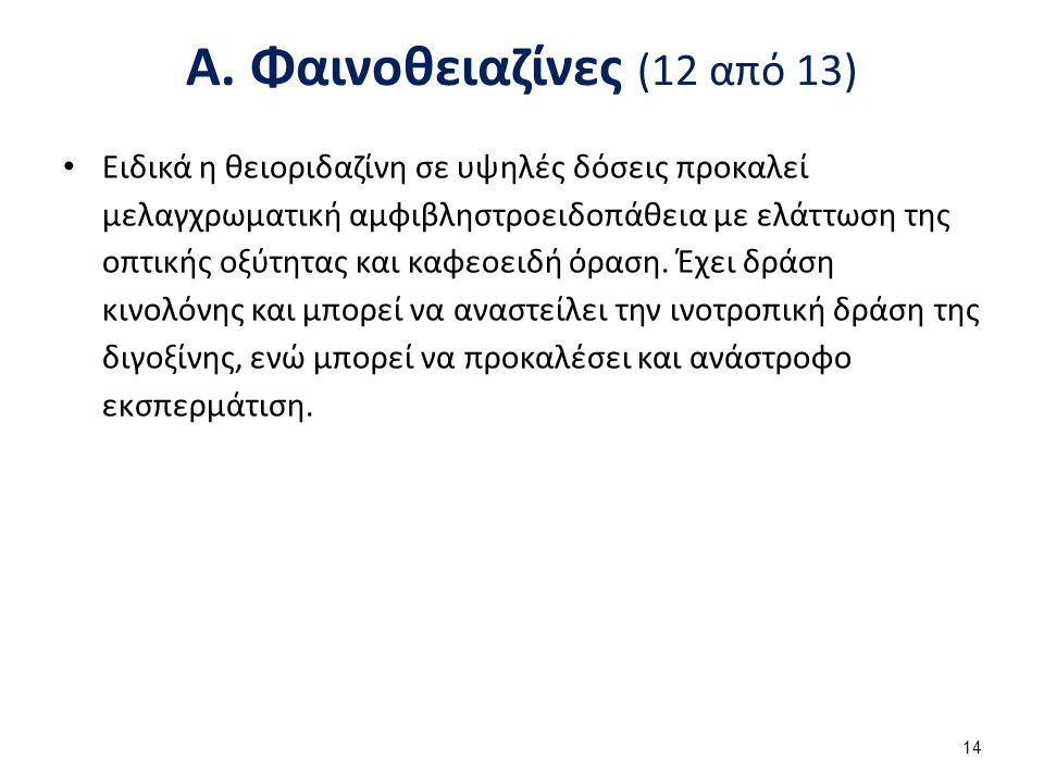Α. Φαινοθειαζίνες (13 από 13)