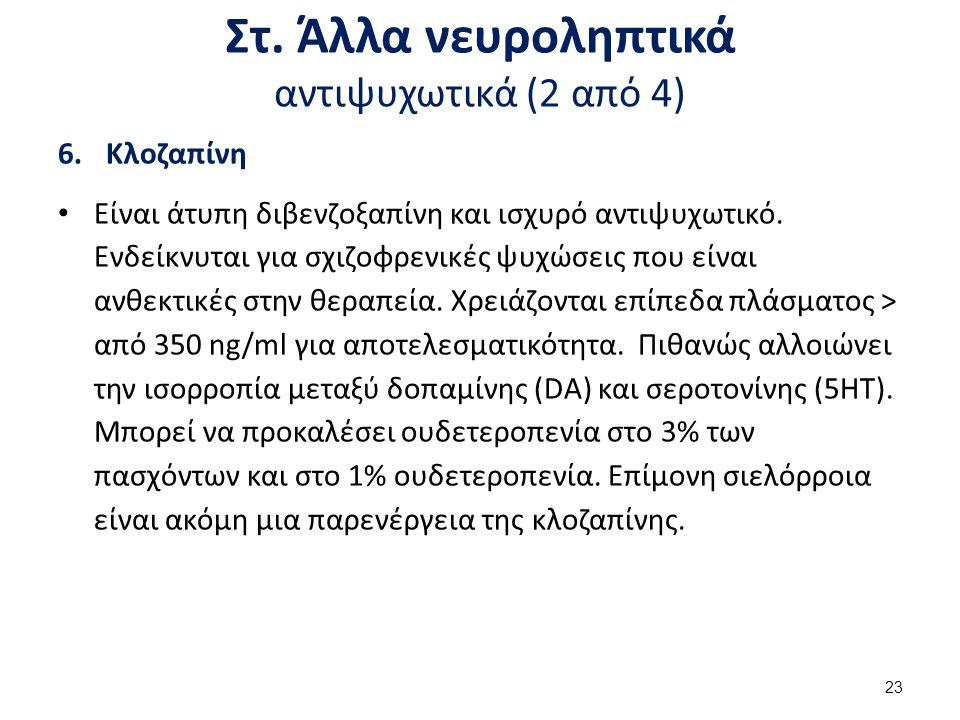Στ. Άλλα νευροληπτικά αντιψυχωτικά (3 από 4)