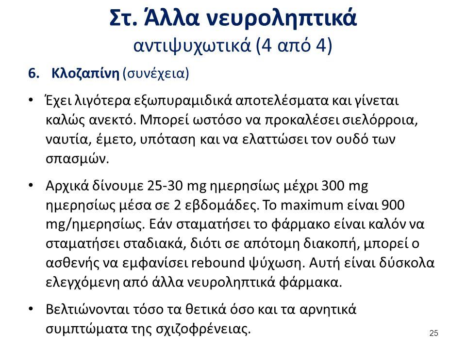 Παρενέργειες νευροληπτικών φαρμάκων (1 από 5)
