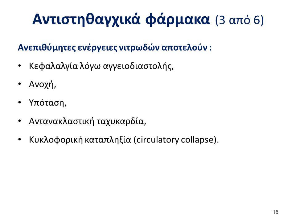 Αντιστηθαγχικά φάρμακα (4 από 6)