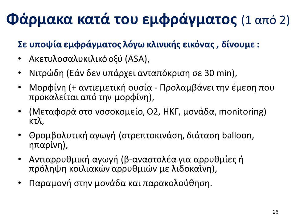 Φάρμακα κατά του εμφράγματος (2 από 2)