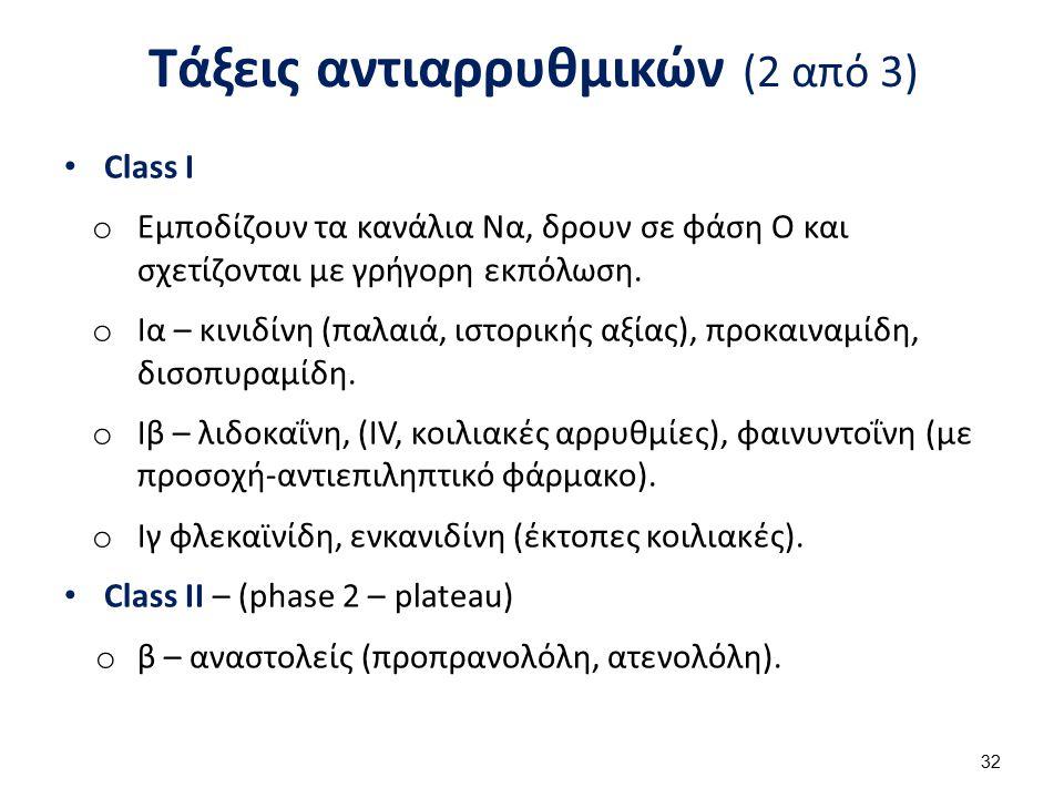 Τάξεις αντιαρρυθμικών (3 από 3)