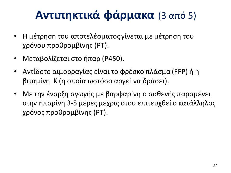 Αντιπηκτικά φάρμακα (4 από 5)