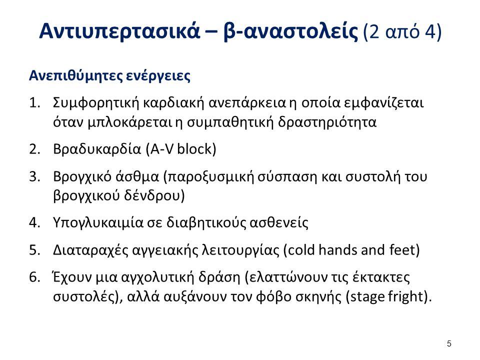 Αντιυπερτασικά – β-αναστολείς (3 από 4)