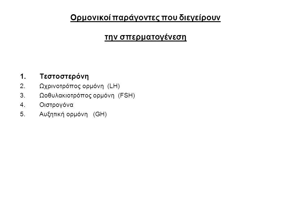 Ορμονικοί παράγοντες που διεγείρουν την σπερματογένεση