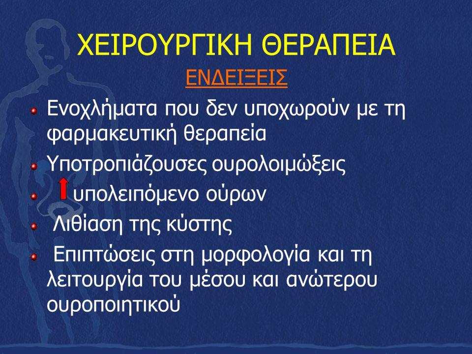 ΧΕΙΡΟΥΡΓΙΚΗ ΘΕΡΑΠΕΙΑ ΕΝΔΕΙΞΕΙΣ