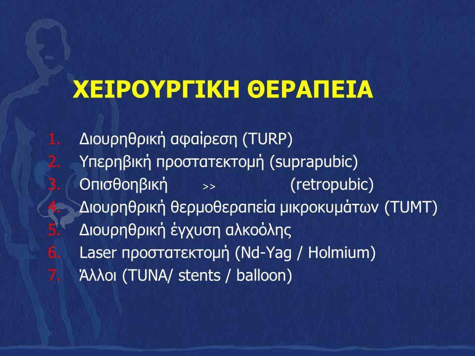ΧΕΙΡΟΥΡΓΙΚΗ ΘΕΡΑΠΕΙΑ Διουρηθρική αφαίρεση (TURP)