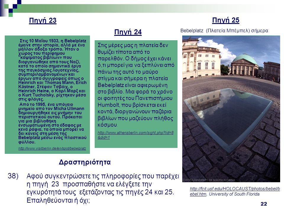 Πηγή 23 Πηγή 25 Πηγή 24 Δραστηριότητα