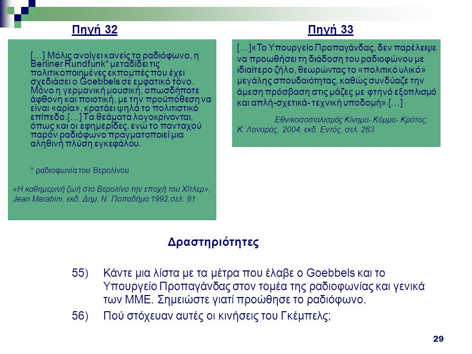 Πηγή 32 Πηγή 33 Δραστηριότητες