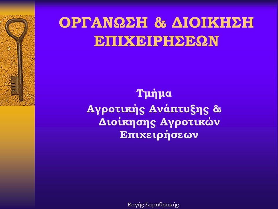 ΟΡΓΑΝΩΣΗ & ΔΙΟΙΚΗΣΗ ΕΠΙΧΕΙΡΗΣΕΩΝ