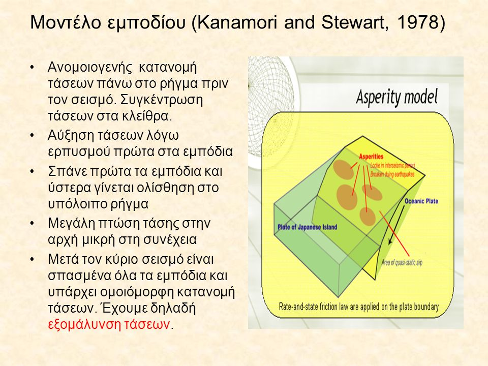 Μοντέλο εμποδίου (Kanamori and Stewart, 1978)