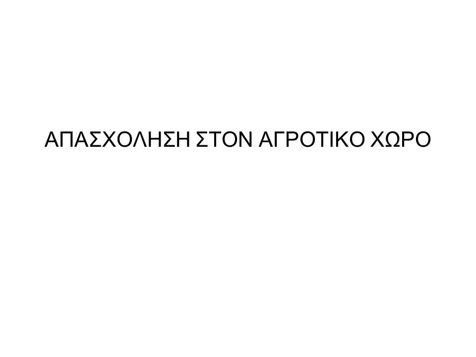 ΑΠΑΣΧΟΛΗΣΗ ΣΤΟΝ ΑΓΡΟΤΙΚΟ ΧΩΡΟ