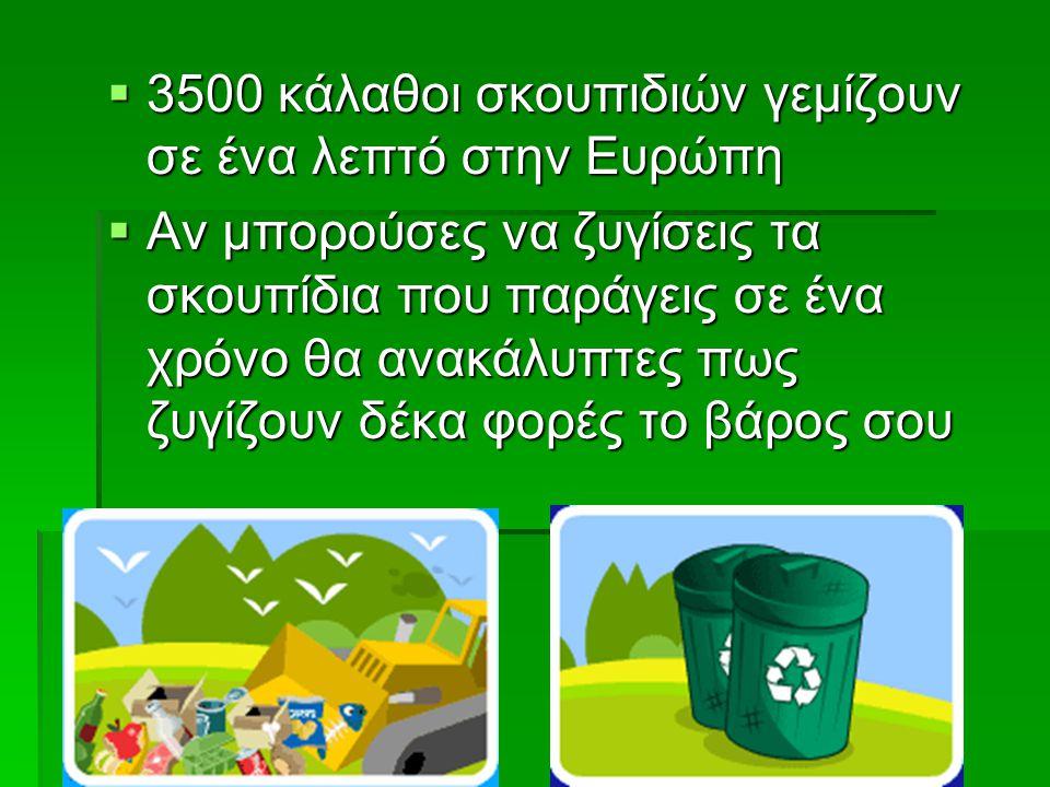 3500 κάλαθοι σκουπιδιών γεμίζουν σε ένα λεπτό στην Ευρώπη