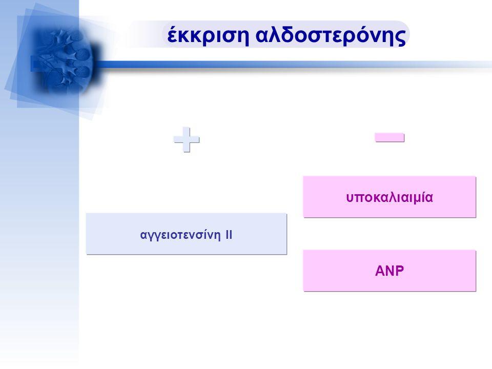 έκκριση αλδοστερόνης υποκαλιαιμία αγγειοτενσίνη ΙΙ ΑΝΡ