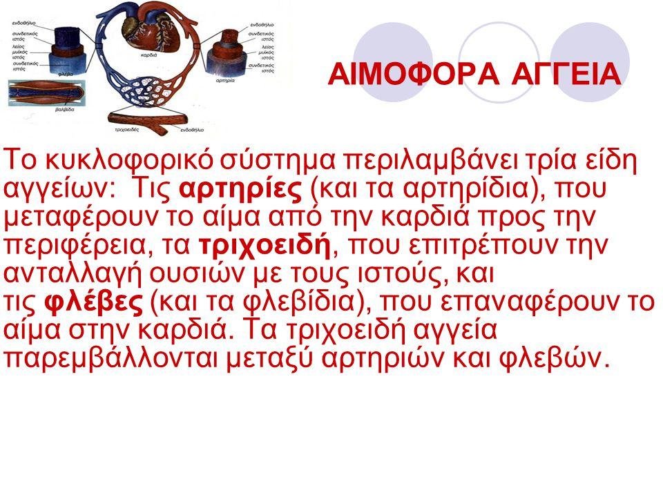 ΑΙΜΟΦΟΡΑ ΑΓΓΕΙΑ