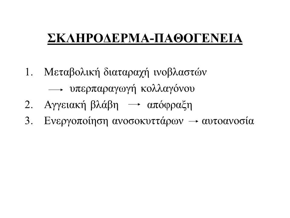 ΣΚΛΗΡΟΔΕΡΜΑ-ΠΑΘΟΓΕΝΕΙΑ