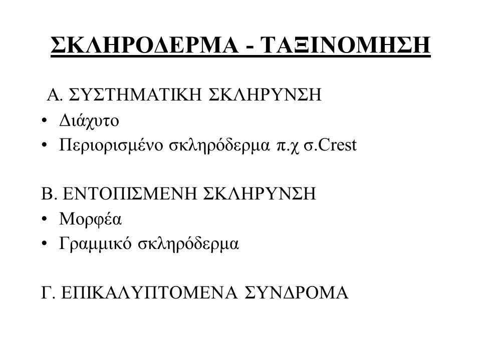 ΣΚΛΗΡΟΔΕΡΜΑ - ΤΑΞΙΝΟΜΗΣΗ