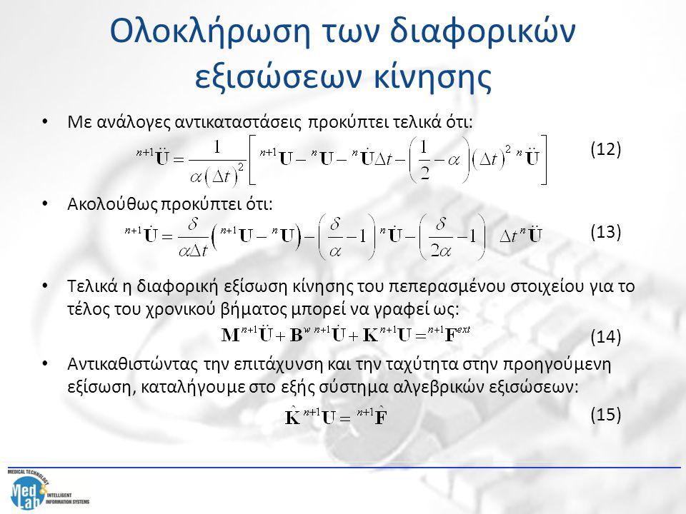 Ολοκλήρωση των διαφορικών εξισώσεων κίνησης