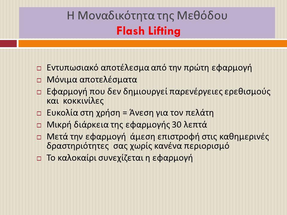 Η Μοναδικότητα της Μεθόδου Flash Lifting