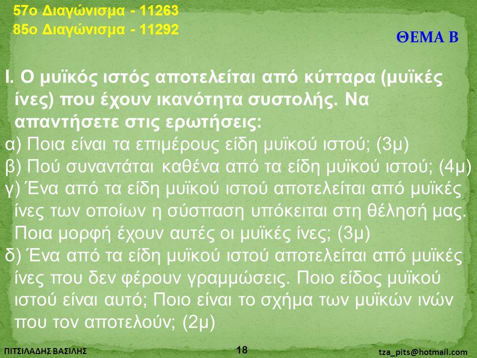 57o Διαγώνισμα - 11263 85o Διαγώνισμα - 11292. ΘΕΜΑ Β.