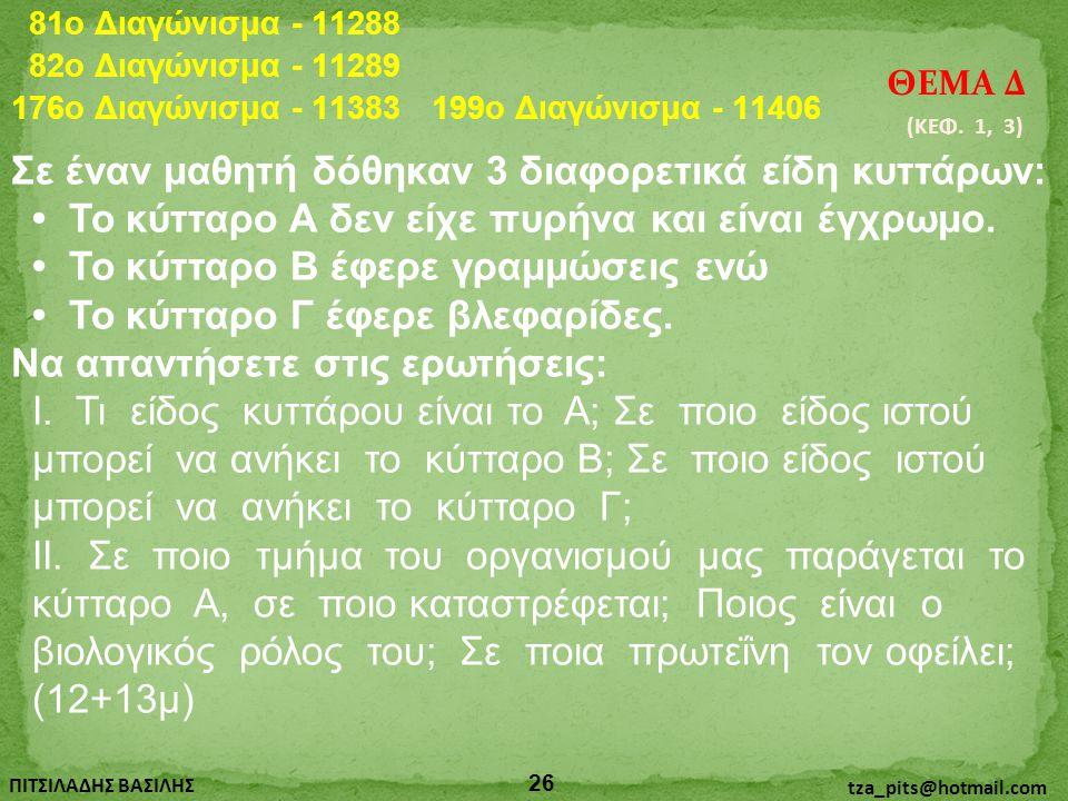 81o Διαγώνισμα - 11288 82o Διαγώνισμα - 11289. ΘΕΜΑ Δ. 176o Διαγώνισμα - 11383. 199o Διαγώνισμα - 11406.