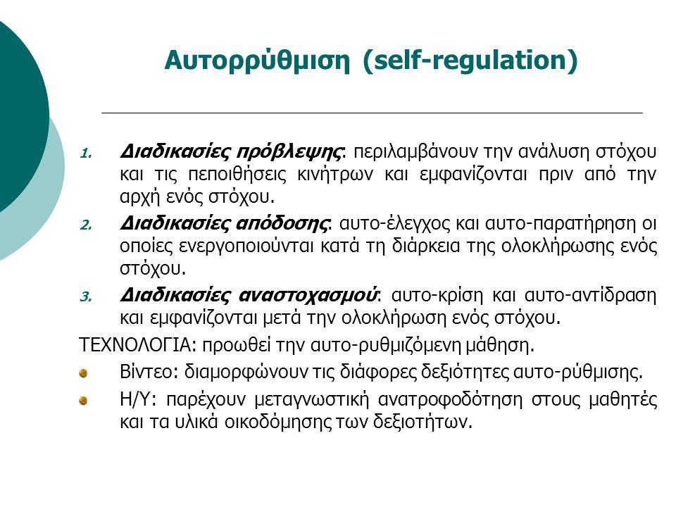 Αυτορρύθμιση (self-regulation)