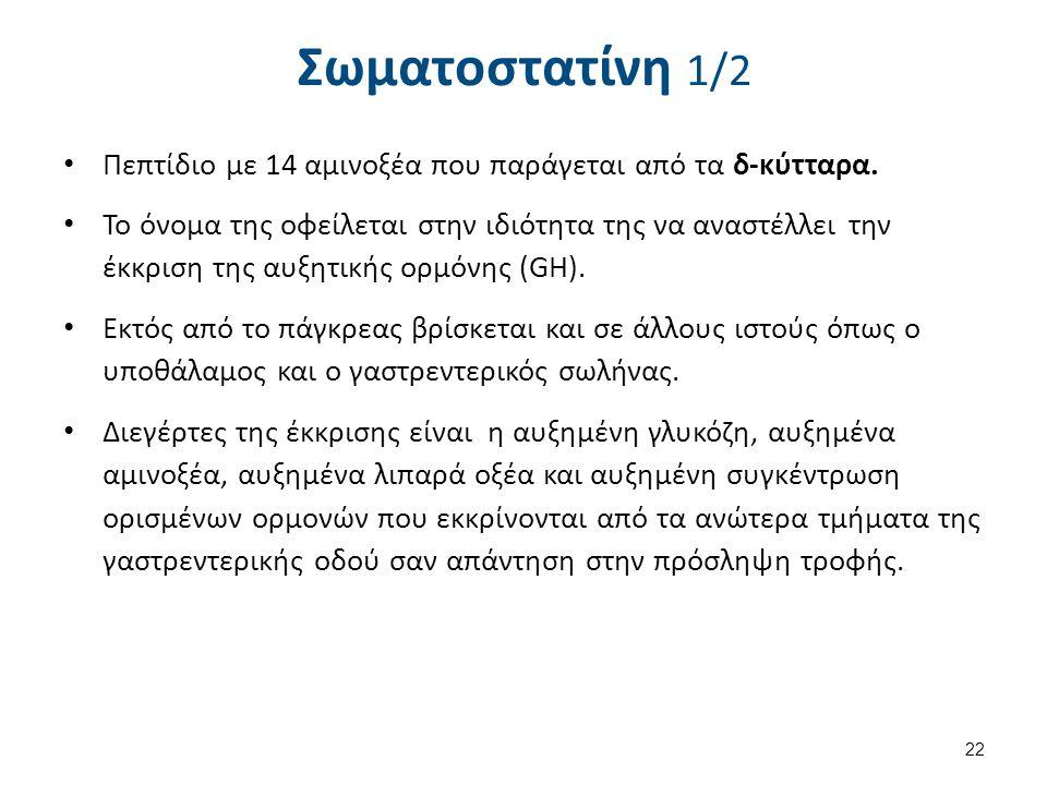 Σωματοστατίνη 2/2 Δράση της Σωματοστατίνης