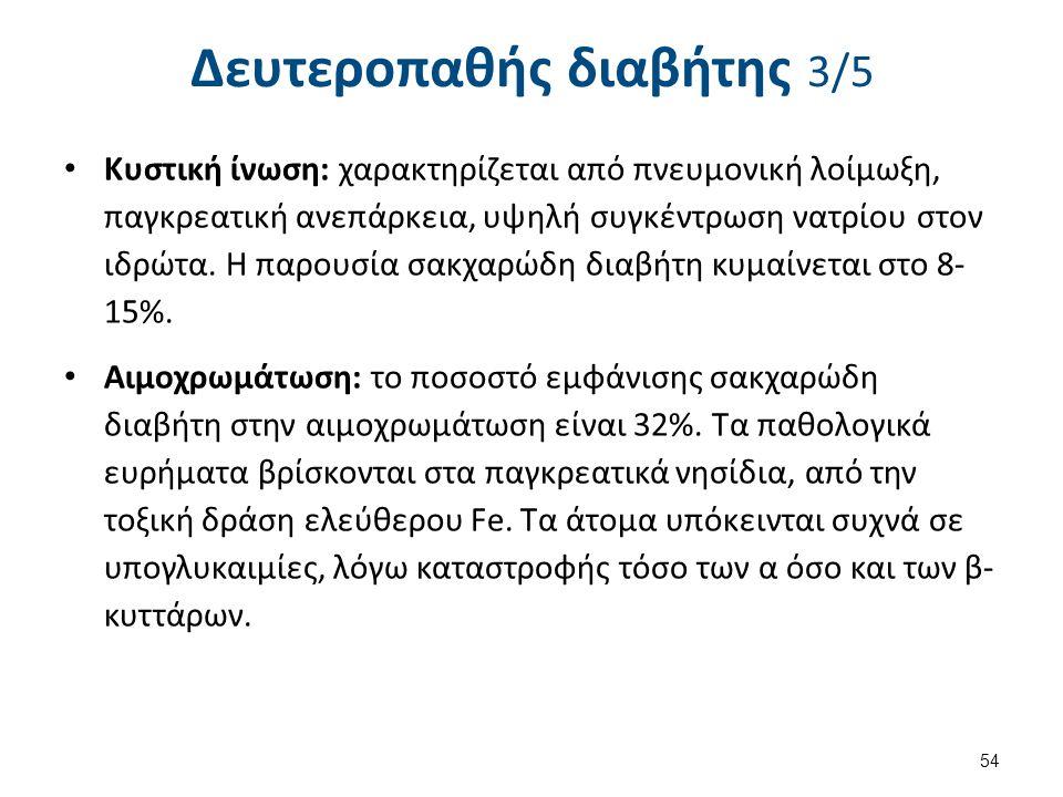 Δευτεροπαθής διαβήτης 4/5