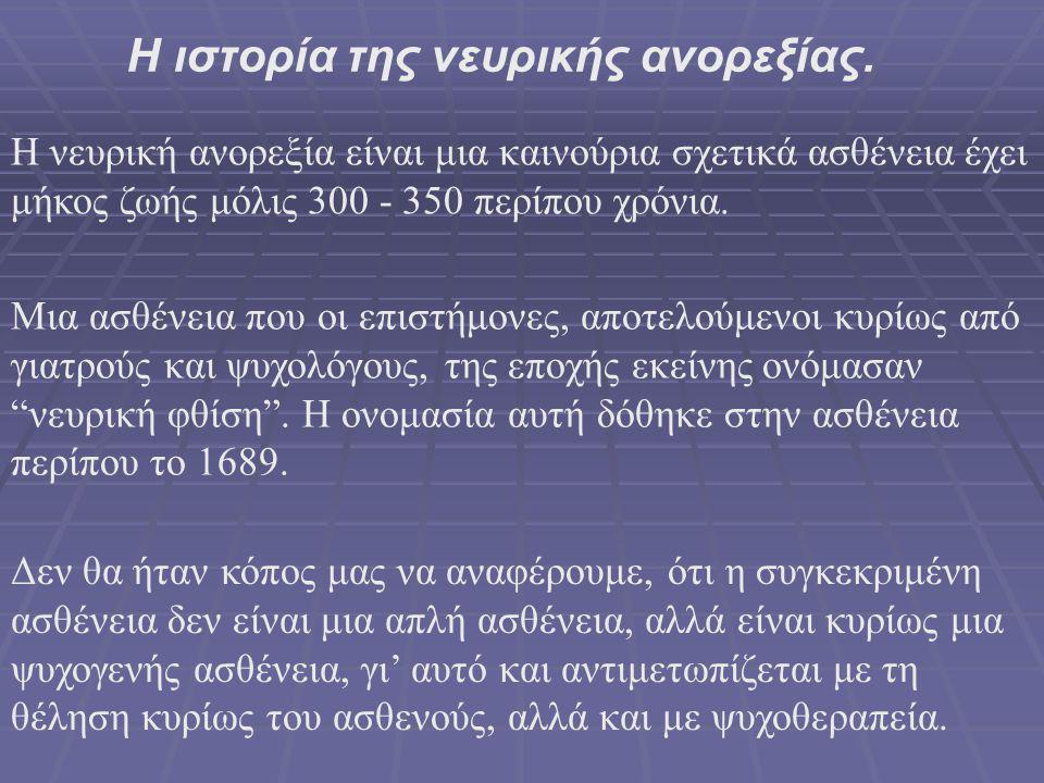 Η ιστορία της νευρικής ανορεξίας.