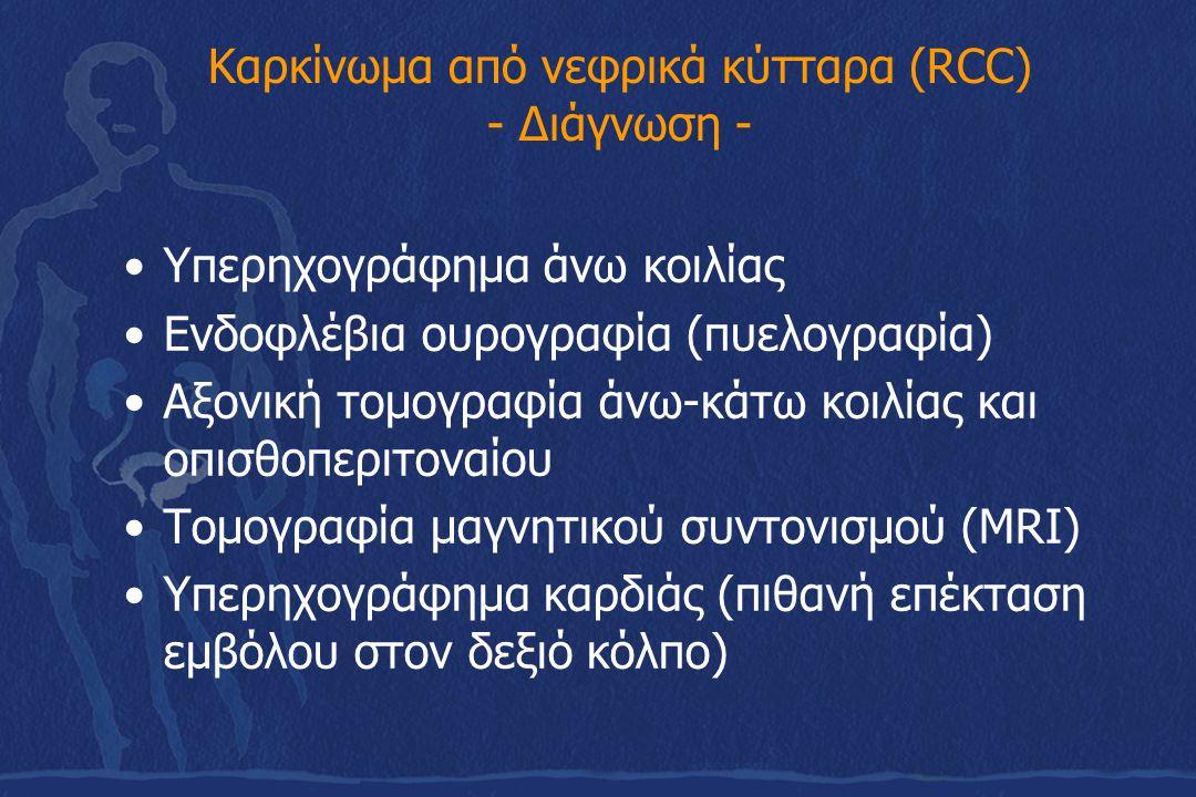 Καρκίνωμα από νεφρικά κύτταρα (RCC) - Διάγνωση -