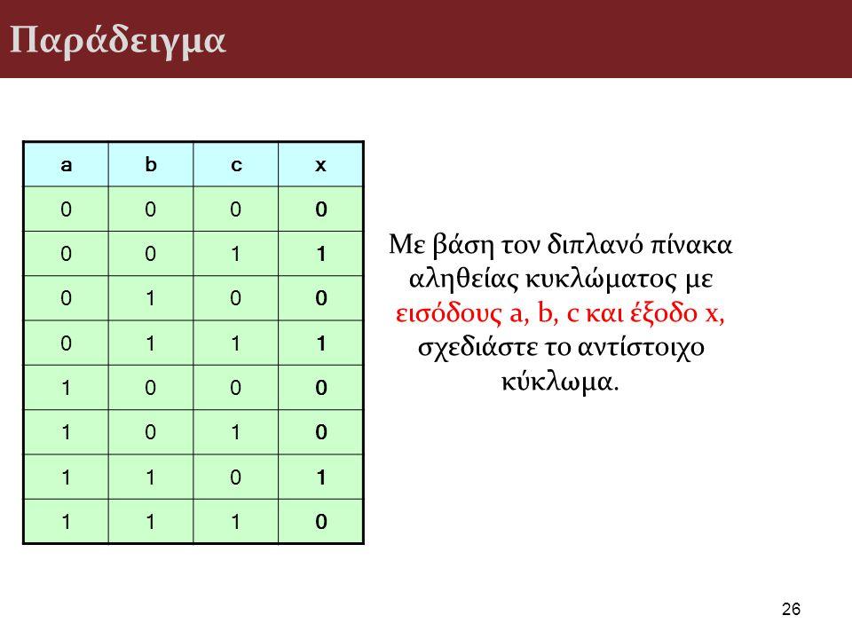 Παράδειγμα a. b. c. x. 1.