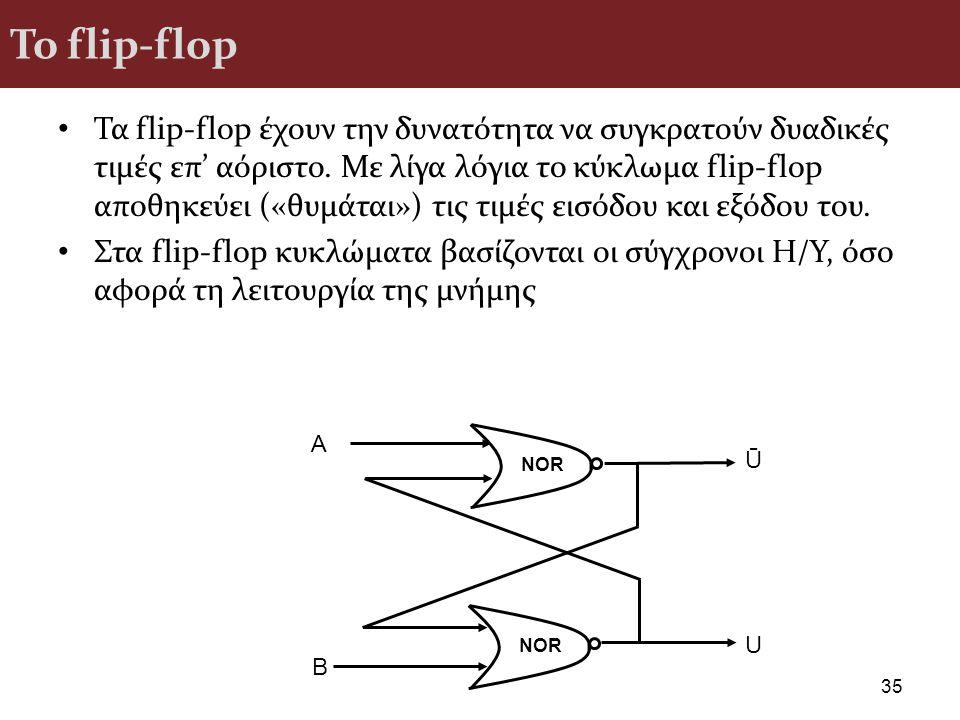 To flip-flop