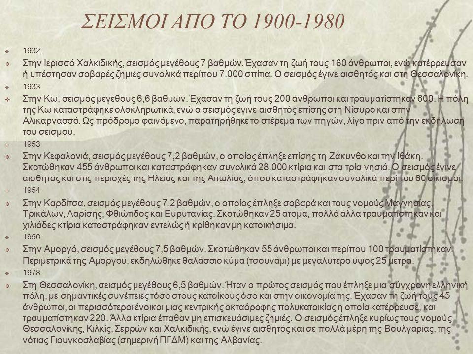 ΣΕΙΣΜΟΙ ΑΠΟ ΤΟ 1900-1980 1932.